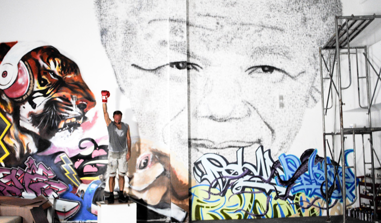 BLOUIN ARTINFO - Phil Akashi, Tribute to Mandela 1