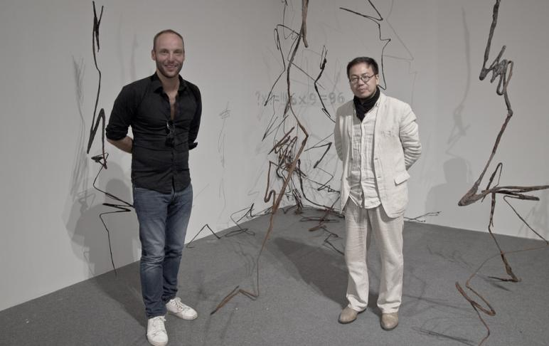 Curator Xia Kejun and Phil Akashi - Nanjing International Art Festival 2015